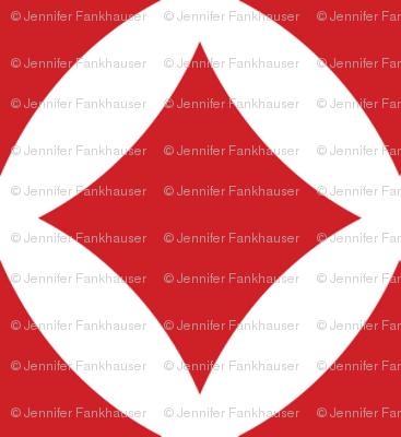 Red Modern Diamonds