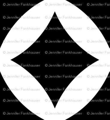 Black and White Modern Diamonds