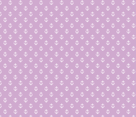 Lilac Purple Anchors fabric by sweetzoeshop on Spoonflower - custom fabric
