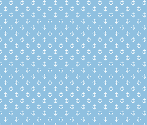 Sky Blue Anchors fabric by sweetzoeshop on Spoonflower - custom fabric