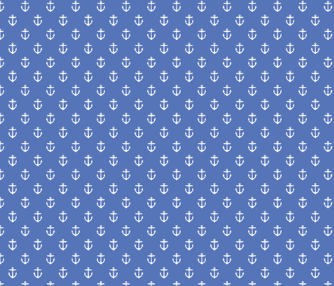 Royal Blue Anchors fabric by sweetzoeshop on Spoonflower - custom fabric