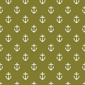 Olive Green Anchors