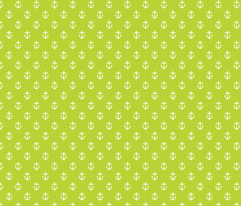 Apple Green Anchors fabric by sweetzoeshop on Spoonflower - custom fabric