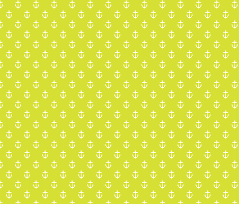 Lime Green Anchors fabric by sweetzoeshop on Spoonflower - custom fabric