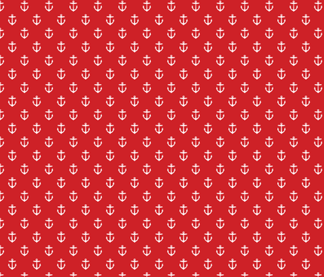 Red Anchors fabric by sweetzoeshop on Spoonflower - custom fabric