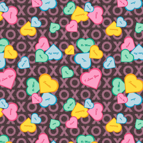 Sweet Hearts fabric by jjtrends on Spoonflower - custom fabric