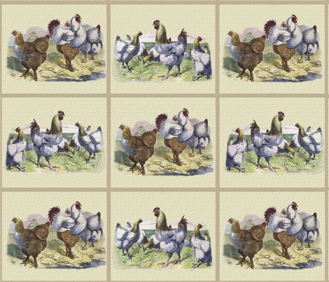 Chicken Tiles fabric by jabiroo on Spoonflower - custom fabric
