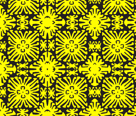 daisy doll black fabric by nascustomwallcoverings on Spoonflower - custom fabric