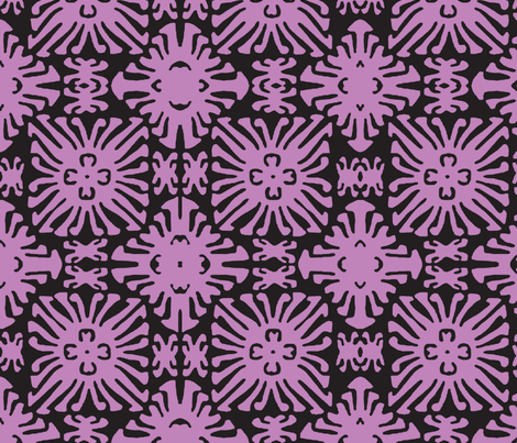daisy doll lilac fabric by nascustomwallcoverings on Spoonflower - custom fabric