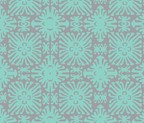 daisy doll aqua fabric by nascustomwallcoverings on Spoonflower - custom fabric
