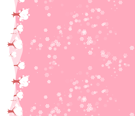 Valentine snow fabric by bubblequartz on Spoonflower - custom fabric