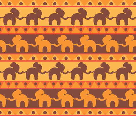 African Elephants fabric by plaidgoose_designs on Spoonflower - custom fabric
