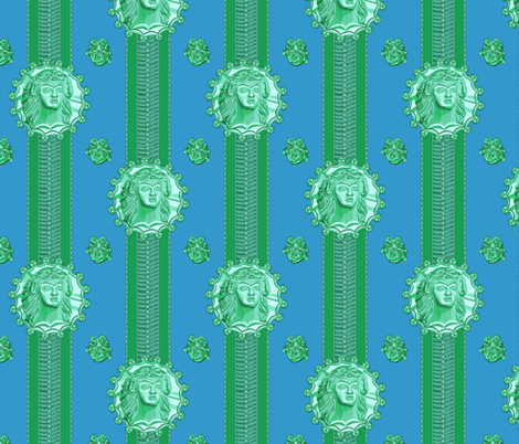 thracian_medallion_bluegreen_ribbon fabric by glimmericks on Spoonflower - custom fabric