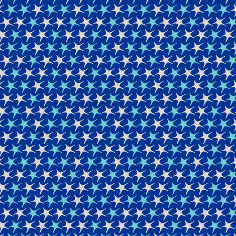 Matisse stars dark blue backgound fabric by pinkbrain on Spoonflower - custom fabric