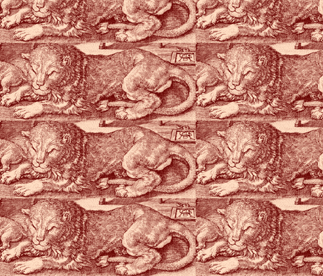 Jerome's Lion fabric by amyvail on Spoonflower - custom fabric