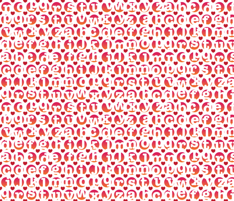 BigLoveLetters fabric by melhales on Spoonflower - custom fabric