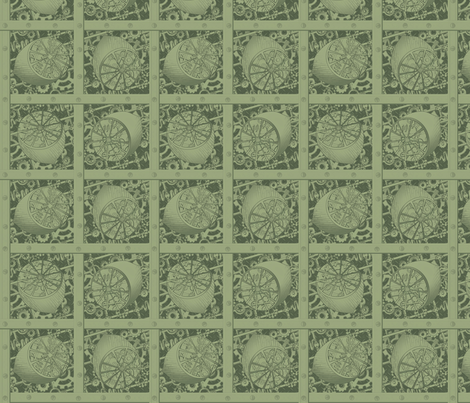 steampunk_lime prints fabric by glimmericks on Spoonflower - custom fabric
