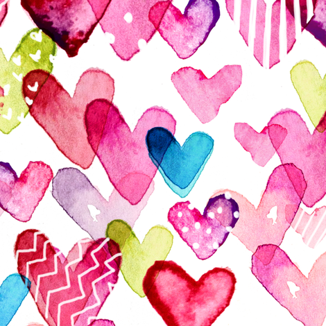 I Heart You fabric by sara_berrenson on Spoonflower - custom fabric