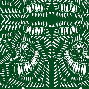 Strokes and Springs Abstract - Green
