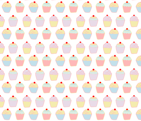 Fairy Cakes fabric by de-ann_black on Spoonflower - custom fabric