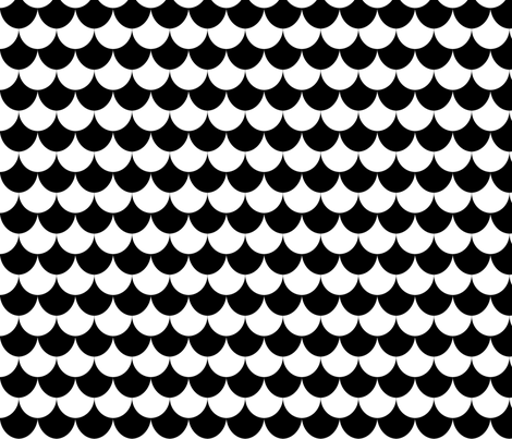 Black & White Tiles fabric by kimsa on Spoonflower - custom fabric
