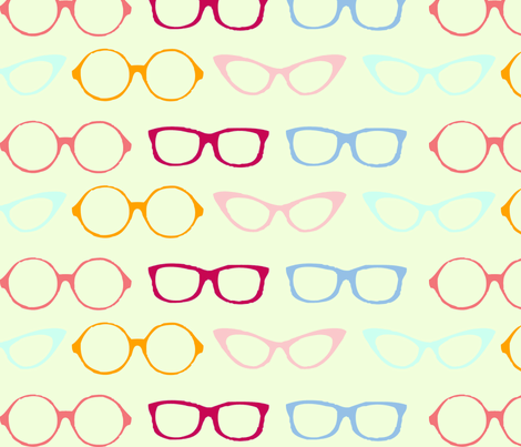 glasses fabric by verderosa on Spoonflower - custom fabric