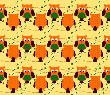 Owls fabric by coyolxa on Spoonflower - custom fabric