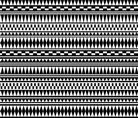 Aztec Black and White fabric by kimsa on Spoonflower - custom fabric