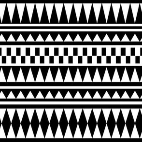 Aztec Black and White
