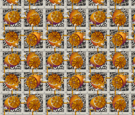 Steampunk Lemons - How Lemonade is Made - Full Steam Ahead fabric by glimmericks on Spoonflower - custom fabric