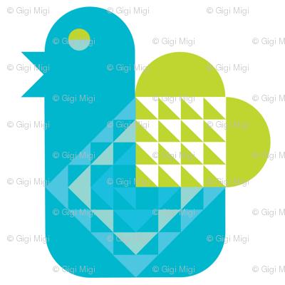 Bue Bird with a Heart