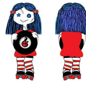 Large 18in rocking roller derby doll