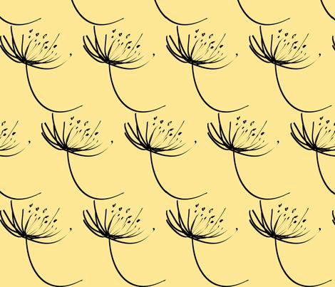 flor_estilizada fundo bege fabric by ana_somaglia on Spoonflower - custom fabric