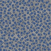 Scattered tardis on gray