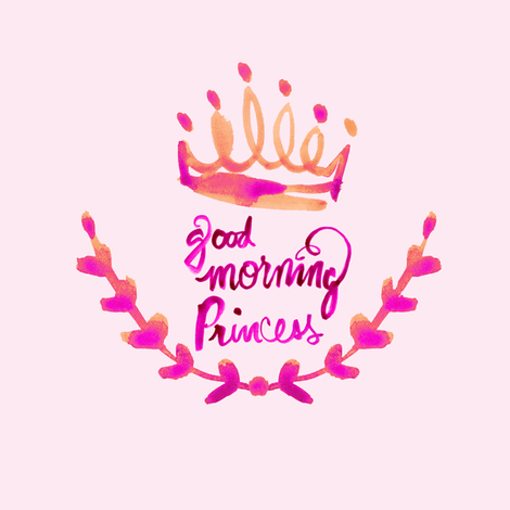 cestlaviv_Good Morning Princess  fabric by cest_la_viv on Spoonflower - custom fabric