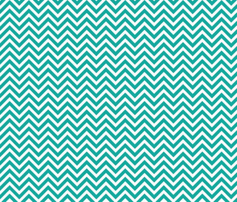 Teal Chevron fabric by sweetzoeshop on Spoonflower - custom fabric