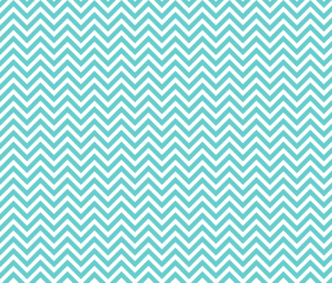 Turquoise Chevron fabric by sweetzoeshop on Spoonflower - custom fabric