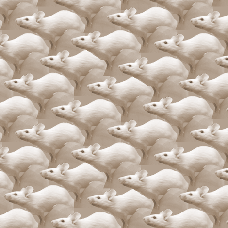Curious Mice fabric by pond_ripple on Spoonflower - custom fabric