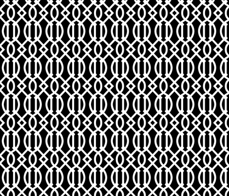 Black and White Trellis fabric by sweetzoeshop on Spoonflower - custom fabric