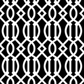 Black and White Trellis