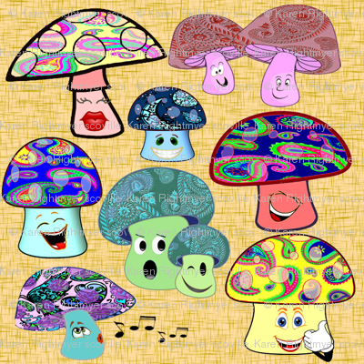 funny mushrooms