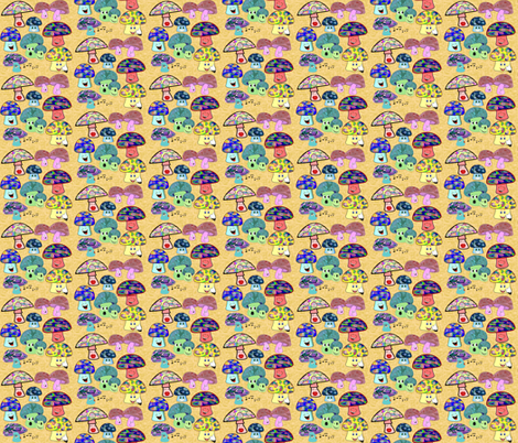 funny mushrooms fabric by krs_expressions on Spoonflower - custom fabric