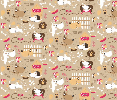 doggies fabric by pokito on Spoonflower - custom fabric
