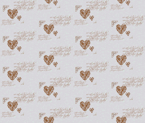 chocolate heart fabric by ourcountrypatch on Spoonflower - custom fabric