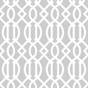 Light Gray Trellis