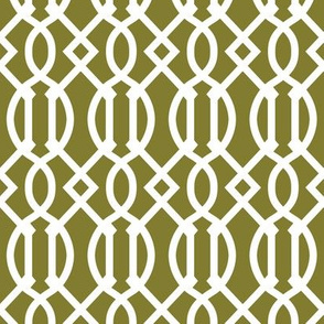 Olive Green Trellis