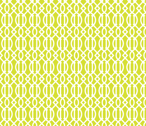 Lime Green Trellis fabric by sweetzoeshop on Spoonflower - custom fabric