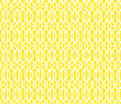 Yellow Trellis fabric by sweetzoeshop on Spoonflower - custom fabric