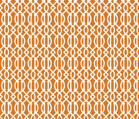 Burnt Orange Trellis fabric by sweetzoeshop on Spoonflower - custom fabric