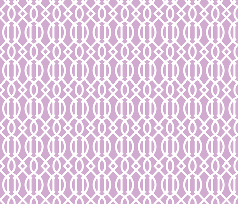 Lilac Purple Trellis fabric by sweetzoeshop on Spoonflower - custom fabric